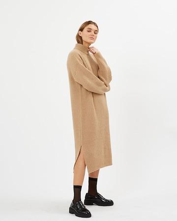 minimum Gebreide jurk 'Pippalika' in Bruin