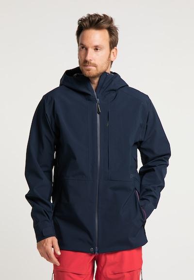 PYUA Outdoorjas in de kleur Blauw: Vooraanzicht