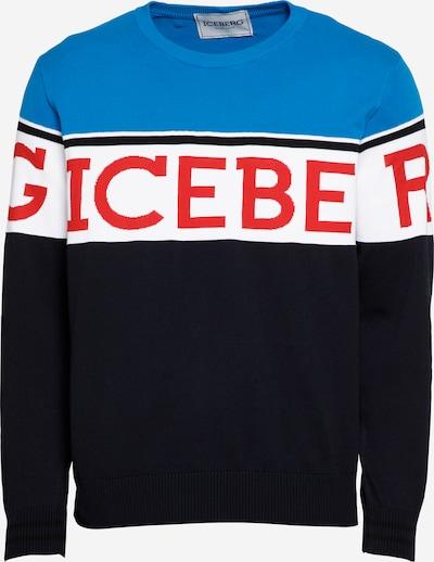 ICEBERG Pulover 'A005' u plava / morsko plava / crvena / bijela, Pregled proizvoda