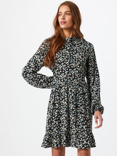 b.young Kleid in beige / rauchblau / schwarz / weiß, Modelansicht
