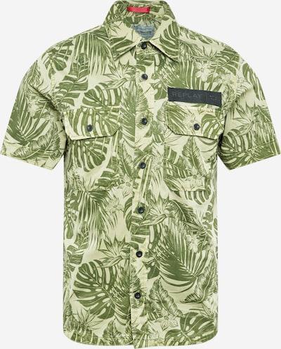 REPLAY Hemd in grasgrün / hellgrün, Produktansicht