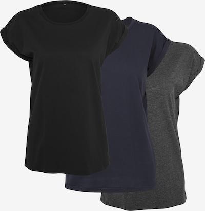 Build your Brand T-Shirt in marine / grau / schlammfarben, Produktansicht