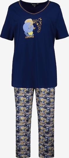 Ulla Popken Pyjama in de kleur Navy / Geel, Productweergave