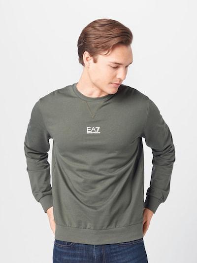 EA7 Emporio Armani Sweatshirt in de kleur Groen / Wit: Vooraanzicht