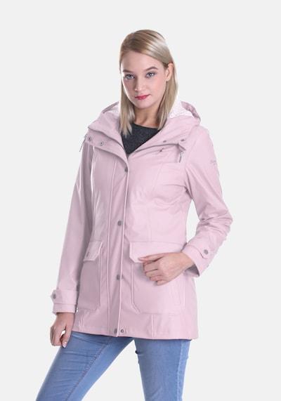 Dingy Rhythm Of The Rain Regenjacke 'Friesennerz' in pink: Frontalansicht