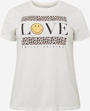 ONLY Carmakoma Shirt 'CARSMILEY' in Weiß