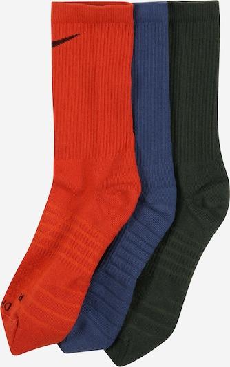 NIKE Športne nogavice 'Pro Everyday Max' | modra / temno zelena / temno oranžna barva, Prikaz izdelka