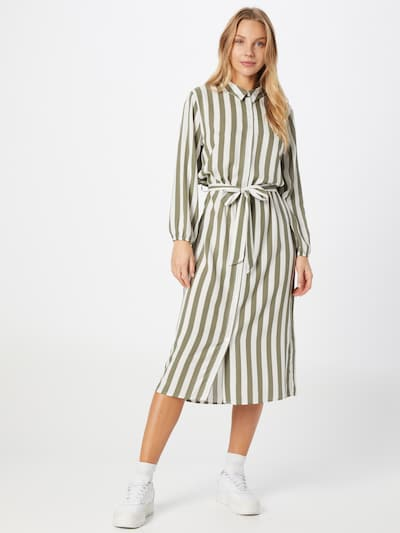 JDY Košeľové šaty 'ELLY' - kaki / biela, Model/-ka