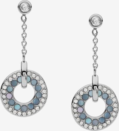 FOSSIL Ohrhänger in blau / silber / transparent, Produktansicht