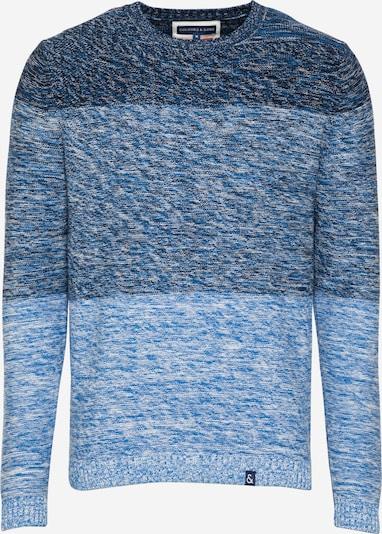 COLOURS & SONS Pullover in blau / hellblau / dunkelblau / weiß, Produktansicht