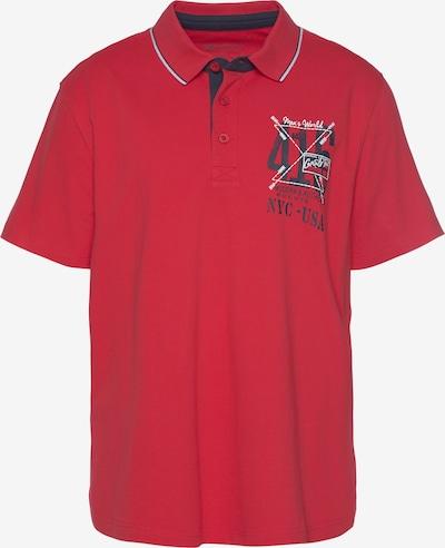Man's World Poloshirt in navy / rot / weiß, Produktansicht