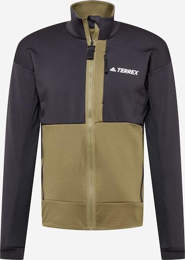 adidas Terrex Sportsweatjacke in oliv / schwarz / weiß, Produktansicht