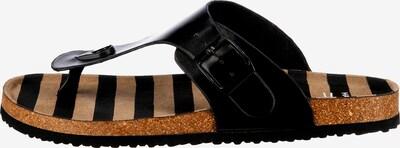 Inselhauptstadt T-Bar Sandals in Light brown / Black, Item view