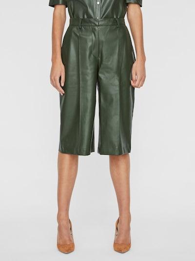 VERO MODA Pantalon en vert, Vue avec modèle
