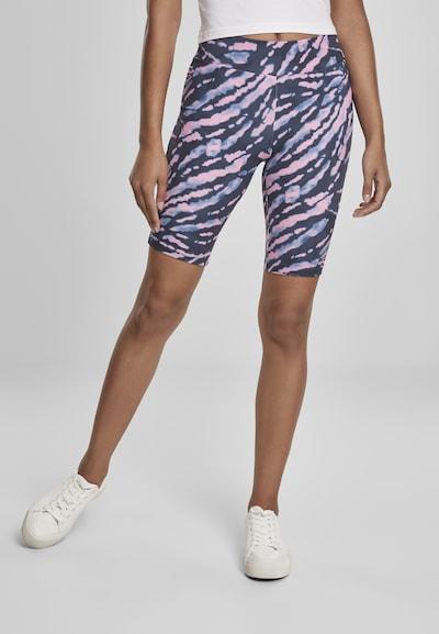 Urban Classics Pantalon en violet clair / violet foncé / rose clair, Vue avec modèle
