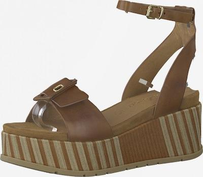 Sandale cu baretă MARCO TOZZI pe maro, Vizualizare produs