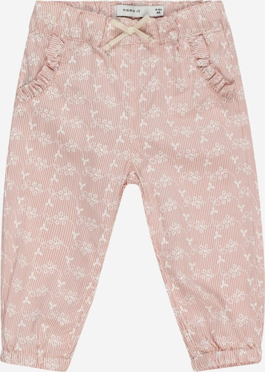 NAME IT Pantalon 'HETINA' en poudre / blanc, Vue avec produit
