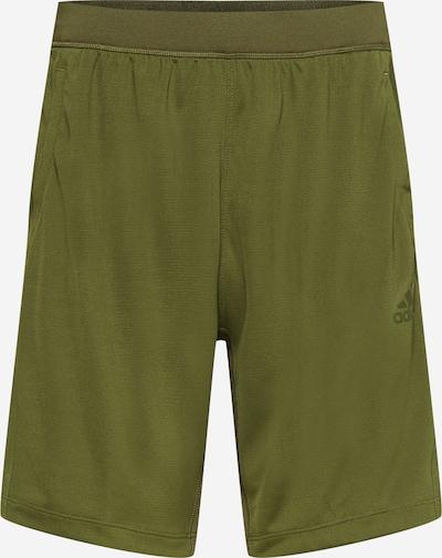 ADIDAS PERFORMANCE Spodnie sportowe w kolorze neonowo-żółty / oliwkowym, Podgląd produktu