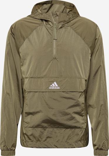 ADIDAS PERFORMANCE Jacke in khaki / weiß, Produktansicht