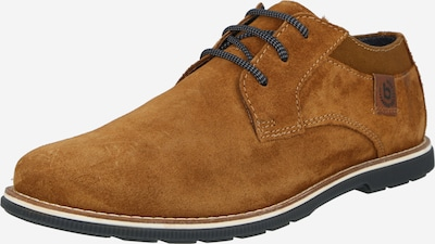 bugatti Обувки с връзки 'Faustino' в коняк: Изглед отпред