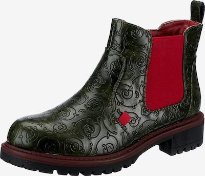 ambellis Chelsea Boots in dunkelgrün / bordeaux, Produktansicht