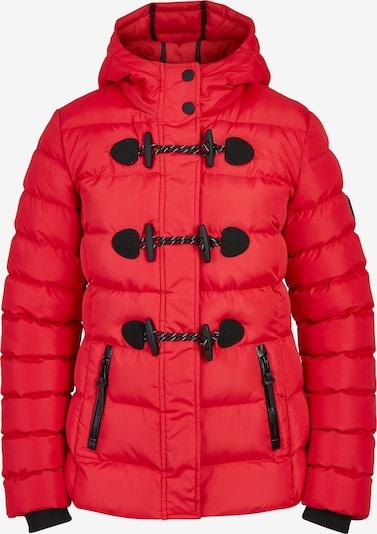 BRAVE SOUL Übergangsjacke 'LJK-PENTAGON' in rot / schwarz, Produktansicht