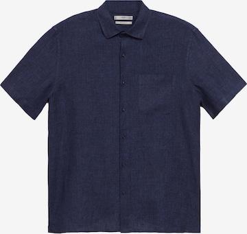 MANGO MAN Button Up Shirt 'Ants' in Blue