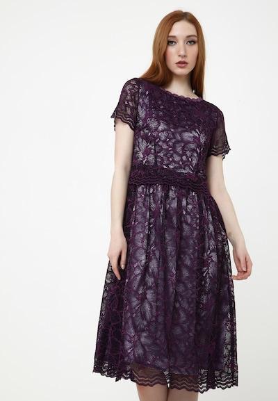 Madam-T Cocktailkleid 'Espera' in aubergine, Modelansicht