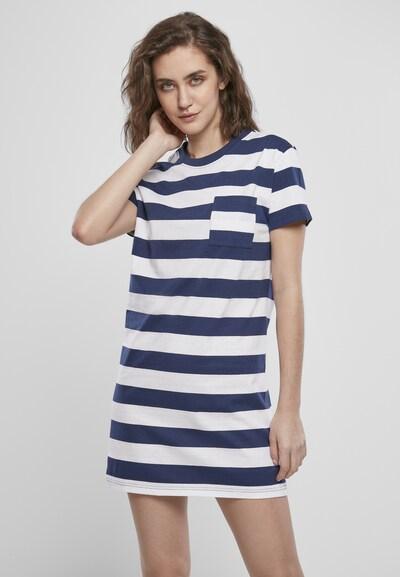 Urban Classics Kleid in dunkelblau / weiß, Modelansicht