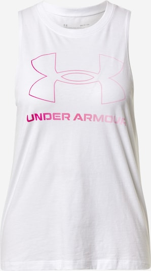 UNDER ARMOUR Top deportivo en rosa neón / blanco, Vista del producto