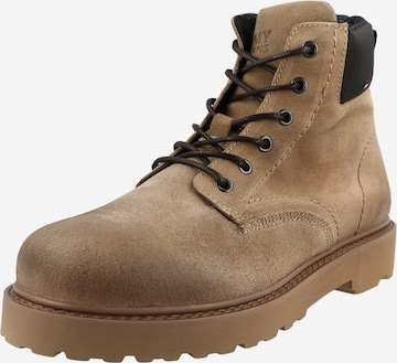 Tommy Jeans Snøreboots i beige