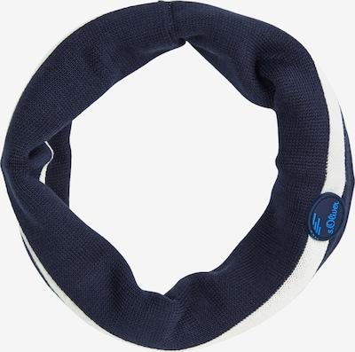 s.Oliver Écharpe en bleu foncé / blanc, Vue avec produit