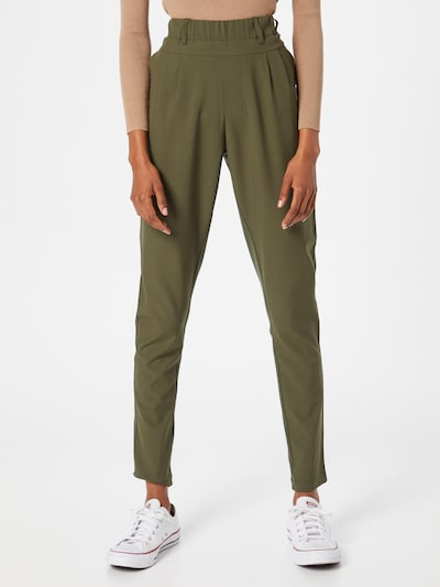 Kaffe Pleat-Front Pants in Khaki / Olive, View model