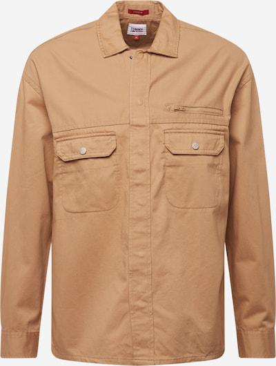 Tommy Jeans Hemd in hellbraun, Produktansicht