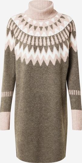 Freequent Pletené šaty 'MERLA' - svetlohnedá / ružová / biela, Produkt