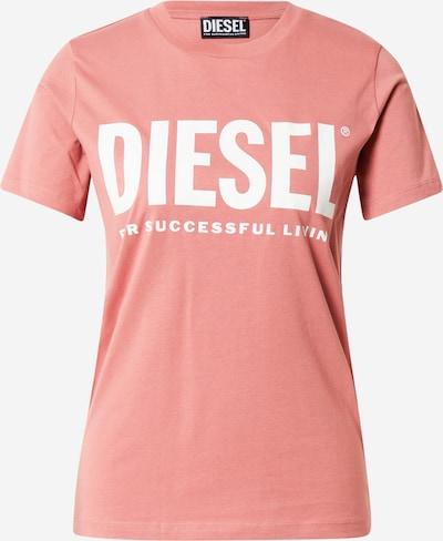DIESEL T-Shirt in altrosa / weiß, Produktansicht