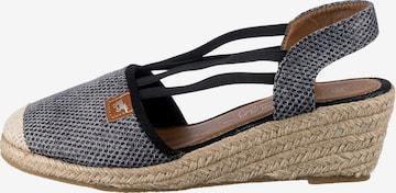 MUSTANG Sandale in Schwarz