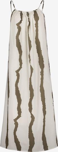 Cartoon Sommerkleid ohne Arm in khaki / weiß, Produktansicht