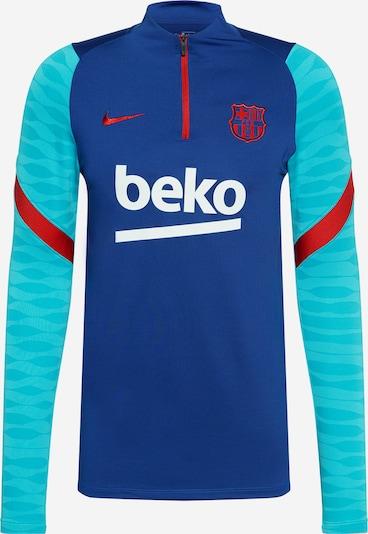 NIKE Функционална тениска 'FC Barcelona Strike' в тюркоазен / кралско синьо / червено / бяло, Преглед на продукта