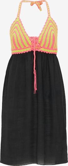 MYMO Kleid in neongelb / neongrün / pink / schwarz, Produktansicht
