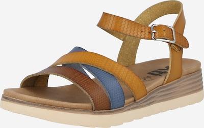 Xti Sandale in blau / braun / cognac, Produktansicht