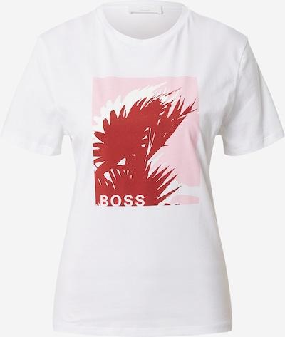 BOSS Casual Paita 'C_Eforma' värissä roosa / karmiininpunaine / valkoinen, Tuotenäkymä