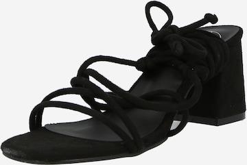 Missguided Sandalette in Schwarz