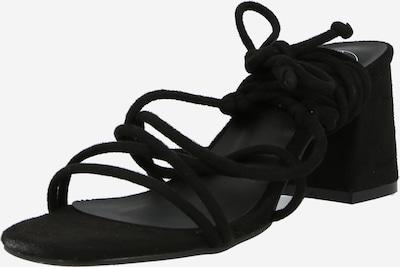 Sandale cu baretă Missguided pe negru, Vizualizare produs