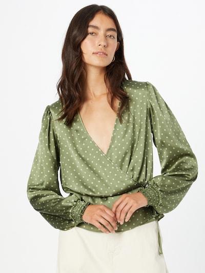Bluză GUESS pe oliv / alb, Vizualizare model