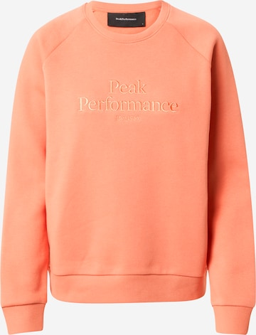 oranžinė PEAK PERFORMANCE Sportinio tipo megztinis
