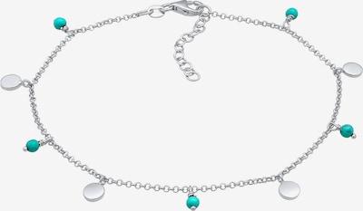 ELLI Fußschmuck Geo, Perle in türkis / silber, Produktansicht