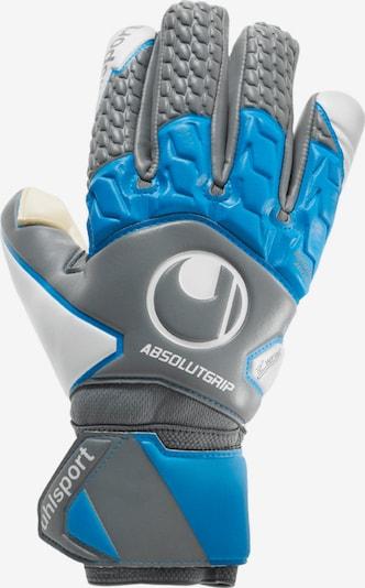 UHLSPORT Handschuh in blau / grau: Frontalansicht