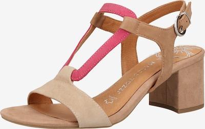 MARCO TOZZI Strap sandal in light beige / brown / pitaya, Item view