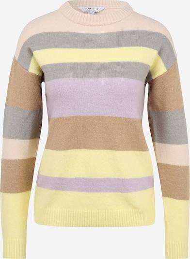 Dorothy Perkins (Tall) Pullover in braun / hellgelb / grau / helllila / pfirsich, Produktansicht